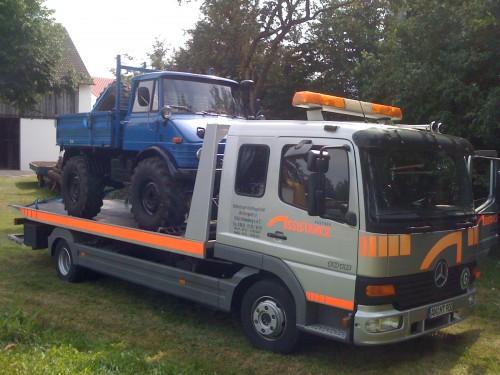 Das blaue Ding - abholen mit dem LKW